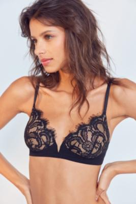 Out From Under - Out From Under Annabelle Lace V-Front Bra, Black