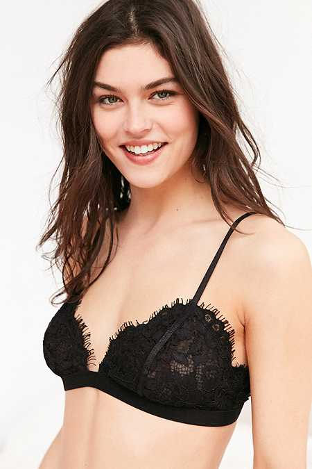 Out From Under Eyelash Black Lace Bralette