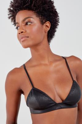 Out From Under - Out From Under Leather Up Bralette, Black
