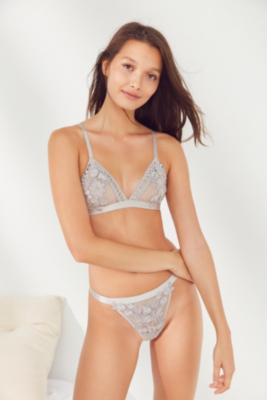 Out From Under - Out From Under My Only Sunshine Grey Mesh Bralette, Grey