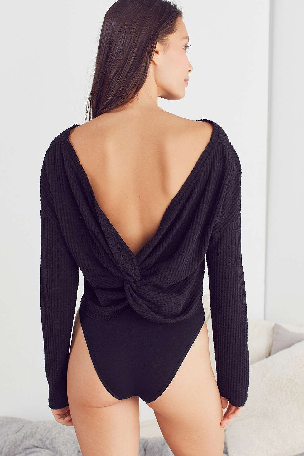 Out From Under Olivia Knot Thermal Top, Black