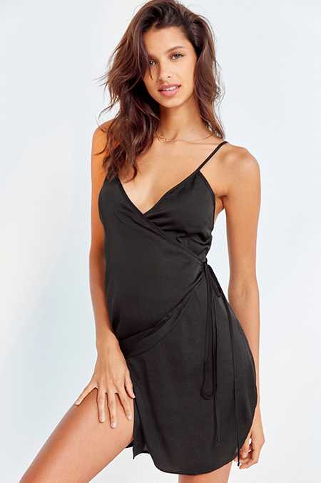 Out From Under Sabrina Asymmetrical Satin Slip