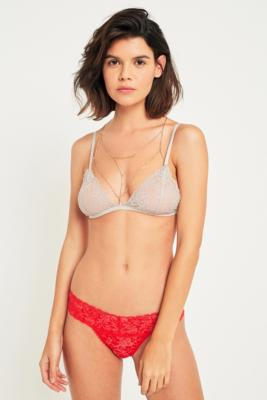 Urban Outfitters - Zoe Cotton Lace Thong