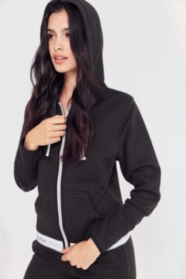 Calvin Klein Grey Full Zip Hoodie, BLACK
