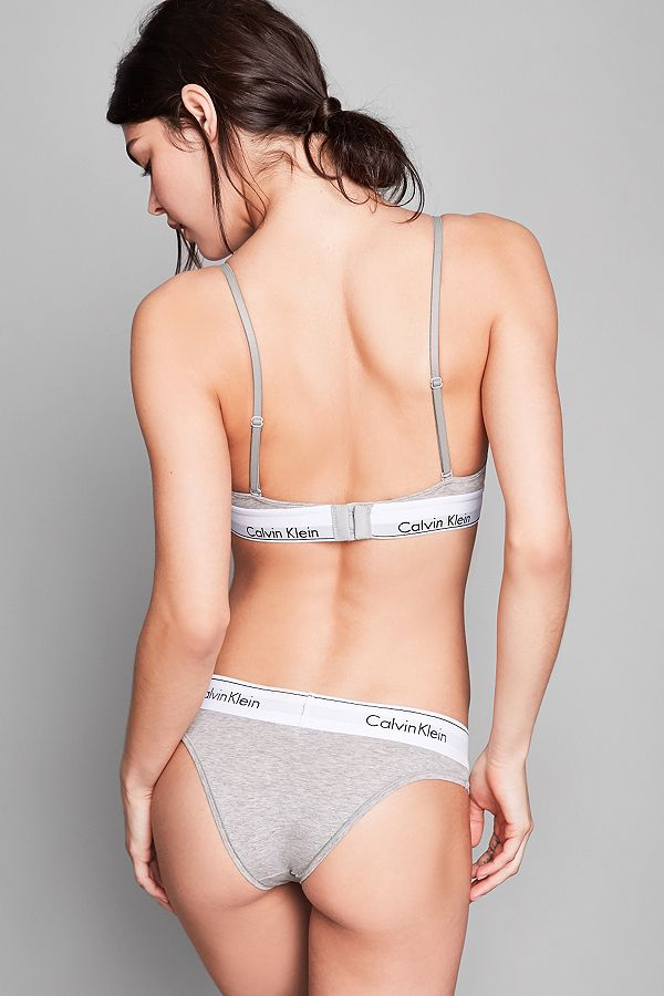 Calvin Klein Modern Cotton Grey Triangle Bra Urban