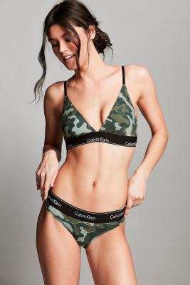 Calvin Klein - Calvin Klein Modern Cotton Camouflage Tanga, CHARTREUSE