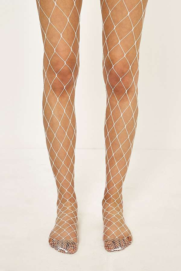 Wide Mesh Fishnet Tights   Urban Outfitters