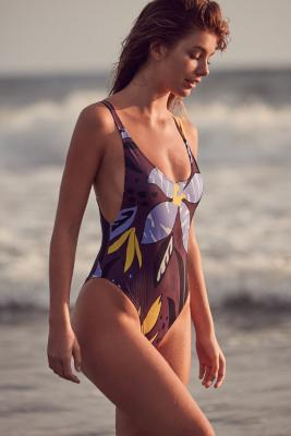 Out From Under - Out From Under Scoop Back One-Piece Swimsuit, Purple