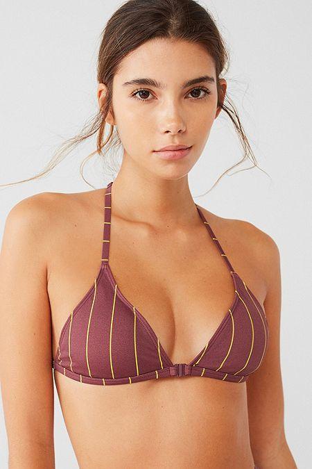 3ecbaac7dd Out From Under Printed Racerback Triangle Bikini Top