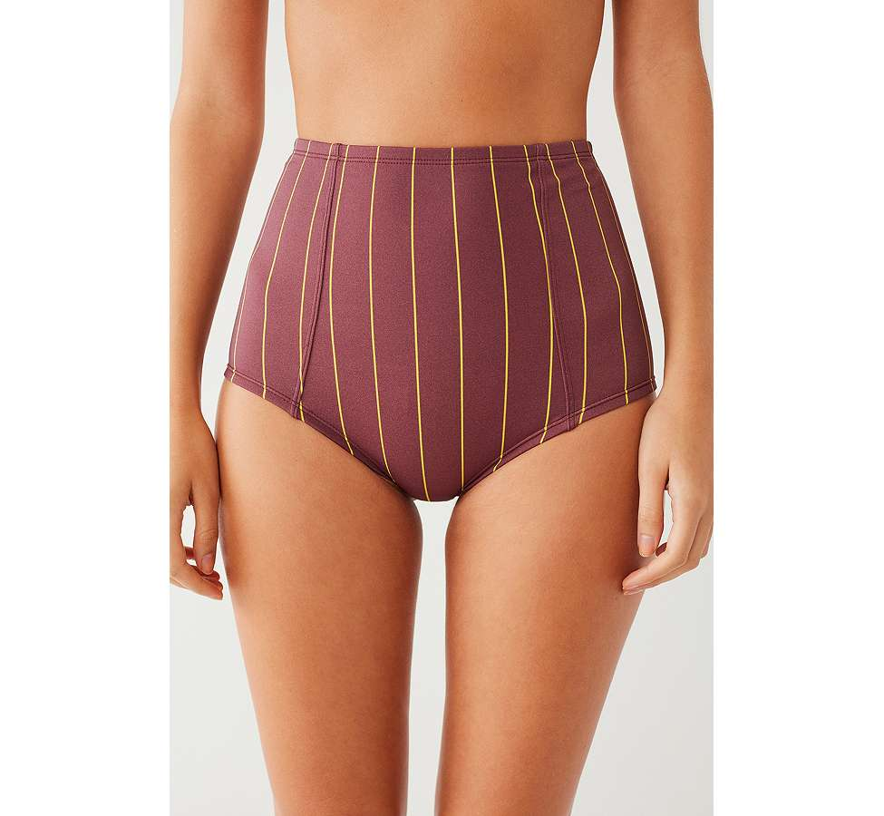 Slide View: 2: Out From Under Printed Flat High-Waisted Bikini Bottoms