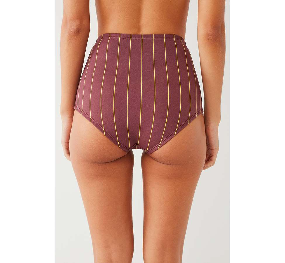 Slide View: 3: Out From Under Printed Flat High-Waisted Bikini Bottoms