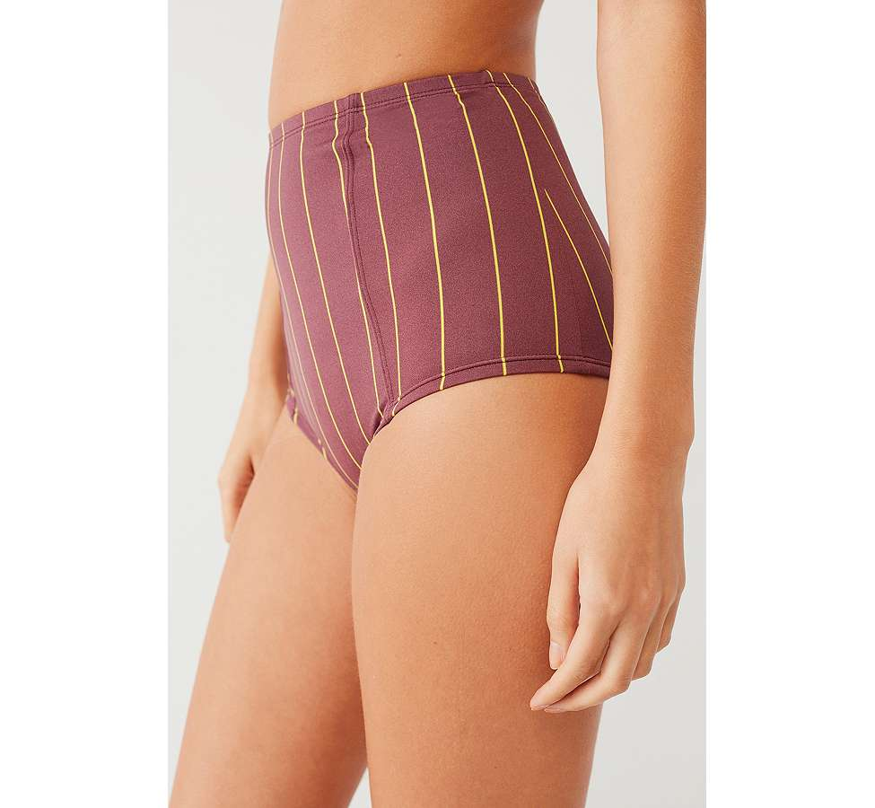 Slide View: 6: Out From Under Printed Flat High-Waisted Bikini Bottoms