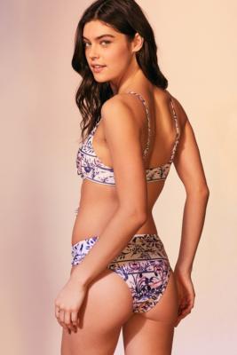 MinkPink - MINKPINK Mozambique Lace-Up Bikini Bottoms, Assorted