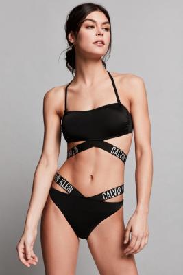 Calvin Klein Intense Power Cross Bikini Bottoms Black