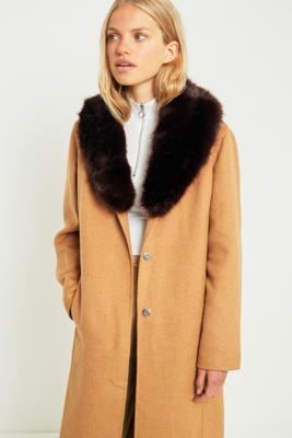 Urban Outfitters - Faux Fur Collar, Black