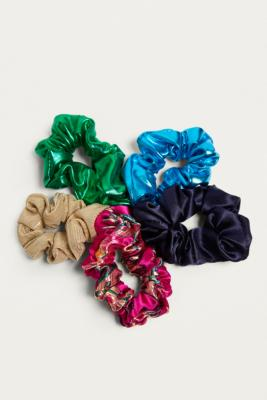 Urban Outfitters - Days Of The Week Scrunchie Set, Blue Multi