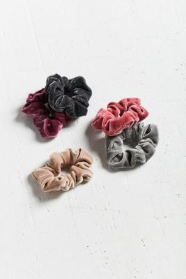 Velvet Hair Scrunchie Hair Band 5-Pack – Womens ALL