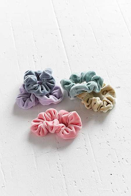 Velvet Hair Scrunchie Hair Band 5-Pack