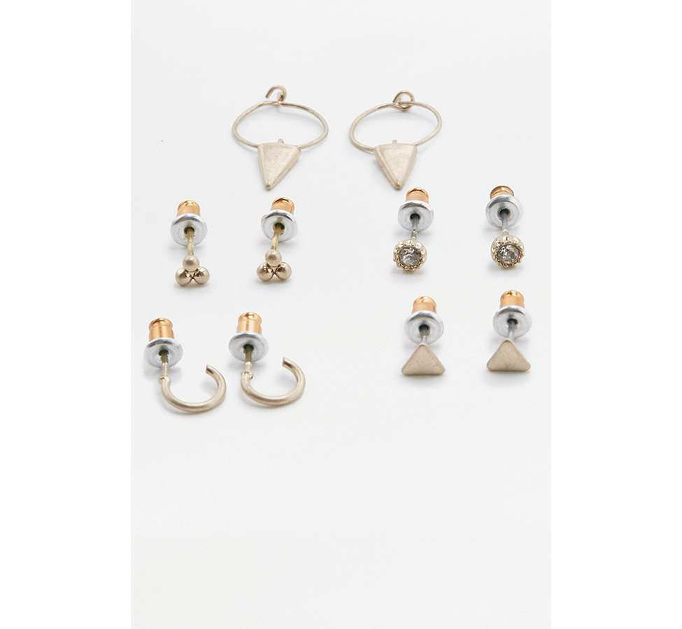 Slide View: 1: Lot de 5 boucles d'oreilles modernes