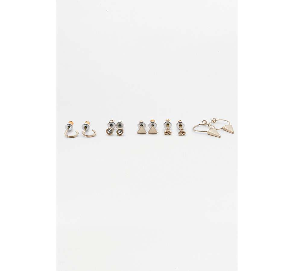 Slide View: 3: Lot de 5 boucles d'oreilles modernes