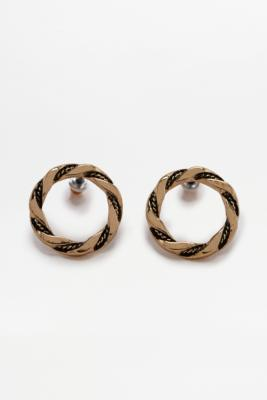 Vintage Twist Circle Stud Earrings – Womens ALL