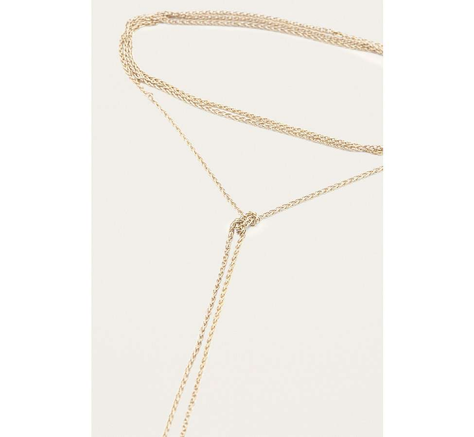 Slide View: 3: Fine Chain Knotted Necklace