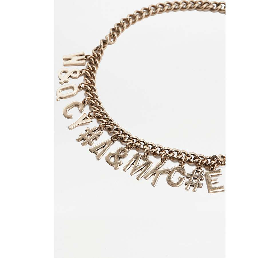 Slide View: 2: Jumble Letter Choker Necklace