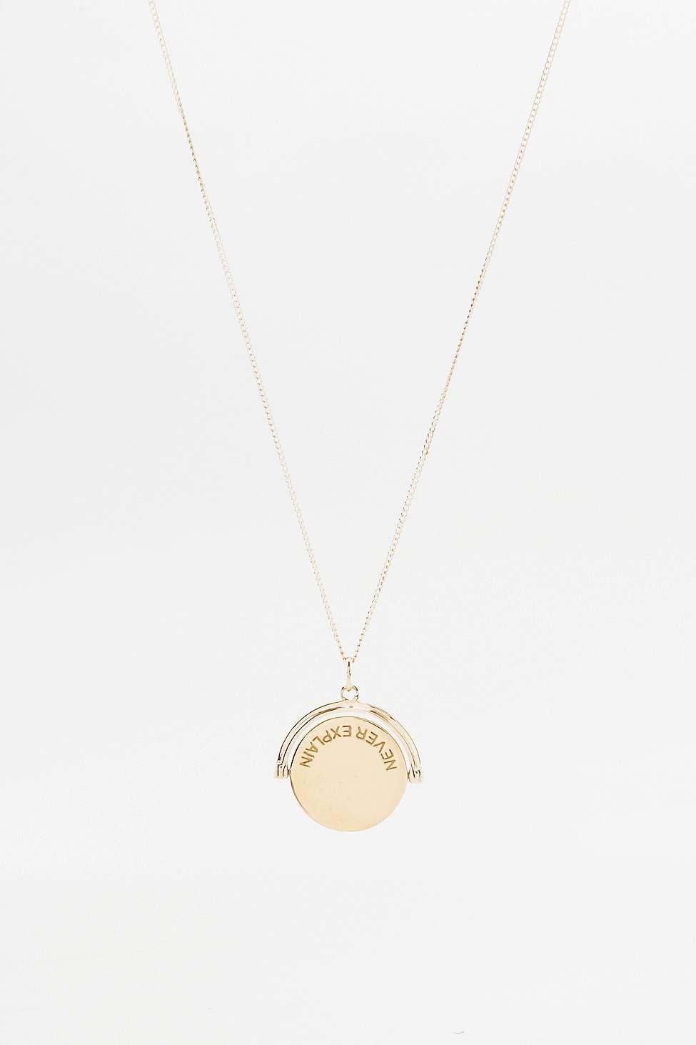 pendant necklace - Metallic Rachel Jackson London