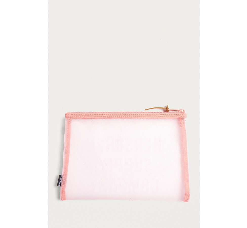 Slide View: 3: Herschel Supply Co. Network Pink Mesh Large Pouch