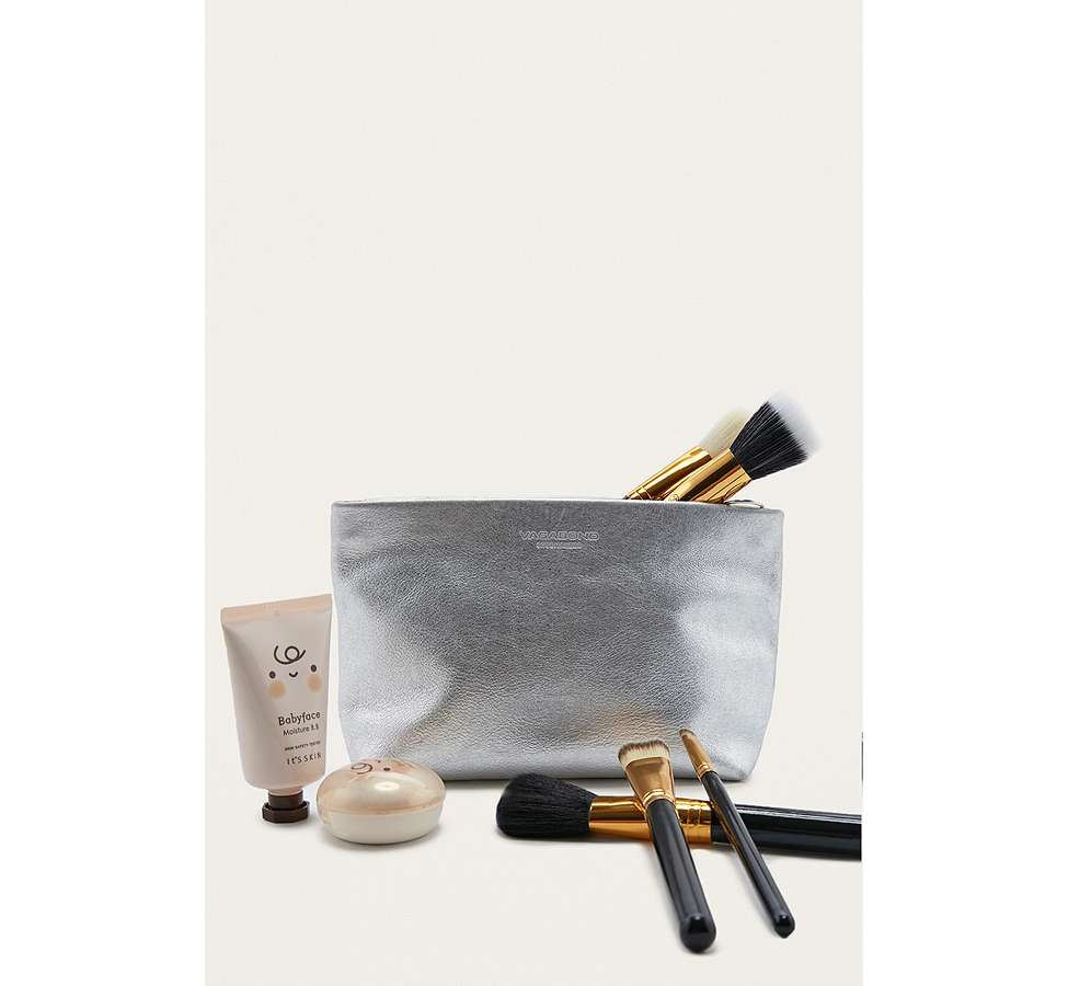 "Slide View: 1: Vagabond – Ledertasche ""Marbella"" in Silber-Metallic"