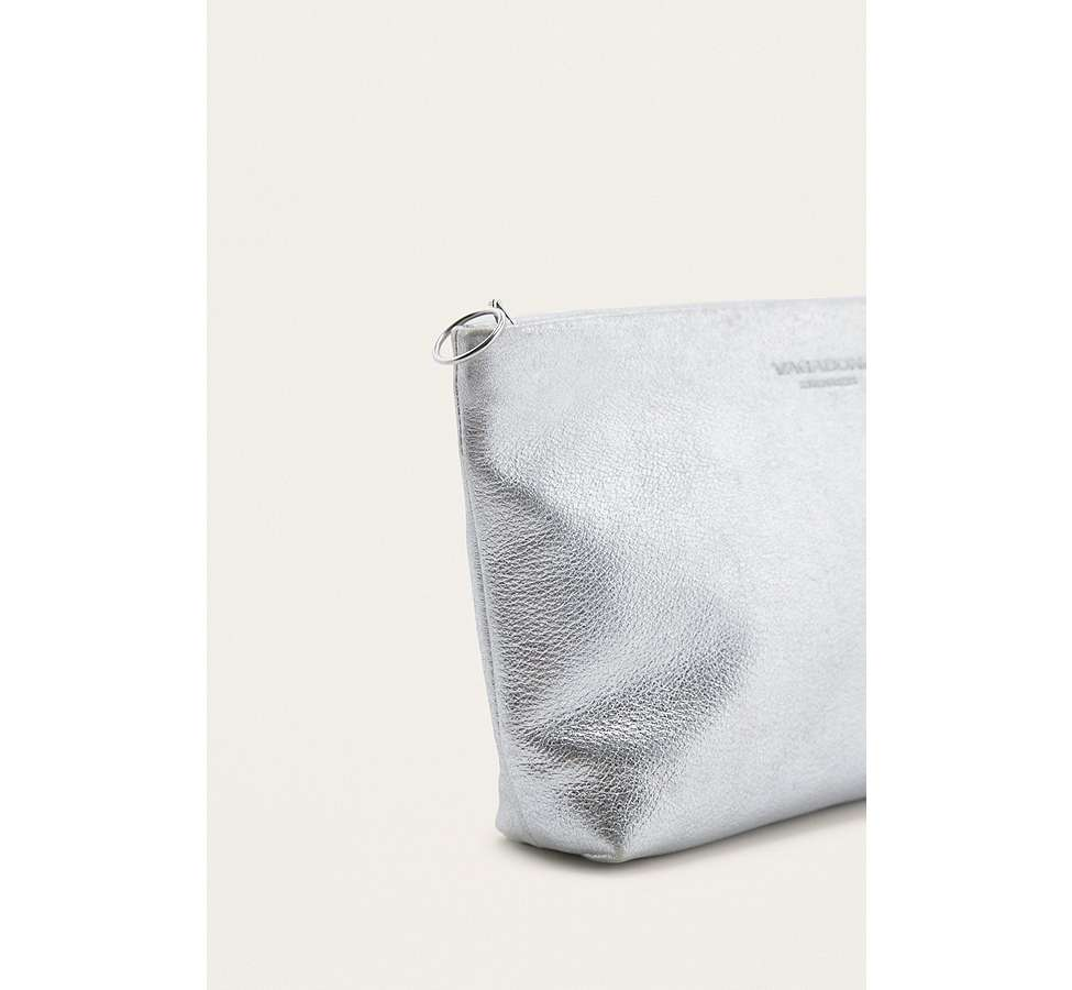 "Slide View: 3: Vagabond – Ledertasche ""Marbella"" in Silber-Metallic"