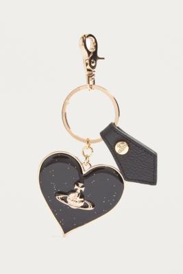 Vivienne Westwood - Vivienne Westwood Mirror Heart Black Key Ring, Black