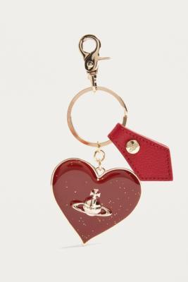 Vivienne Westwood - Vivienne Westwood Mirror Heart Red Key Ring, Red