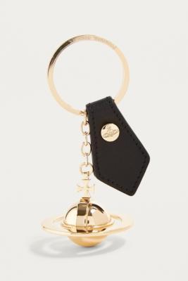 Vivienne Westwood - Vivienne Westwood Round Gold Orb Key Ring, Black