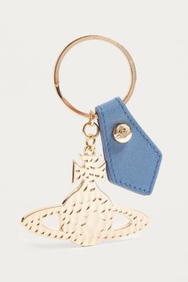 Vivienne Westwood - Vivienne Westwood Hammered Metal Orb Key Ring, Blue