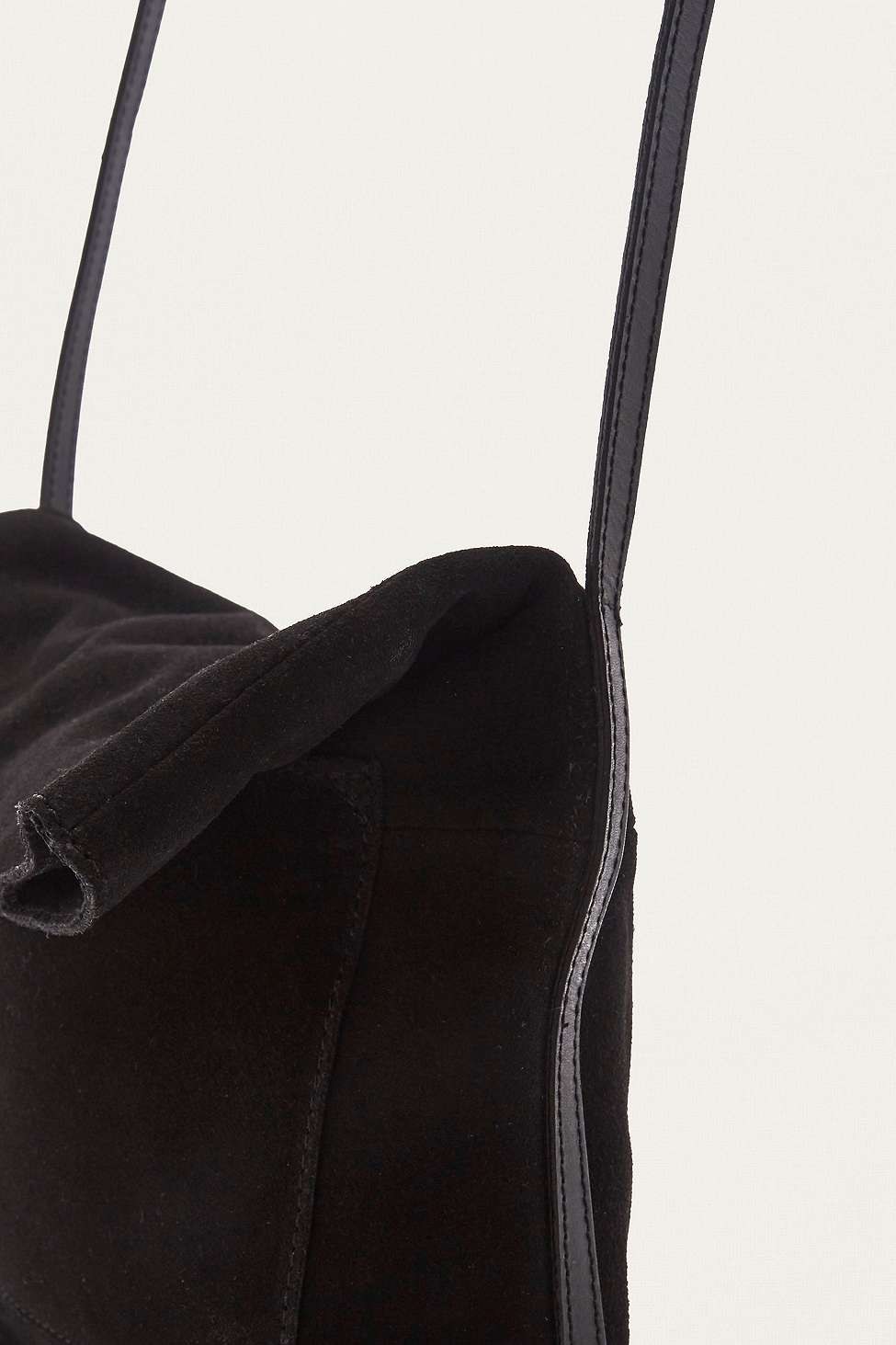 Black Suede Messenger Bag | Urban Outfitters