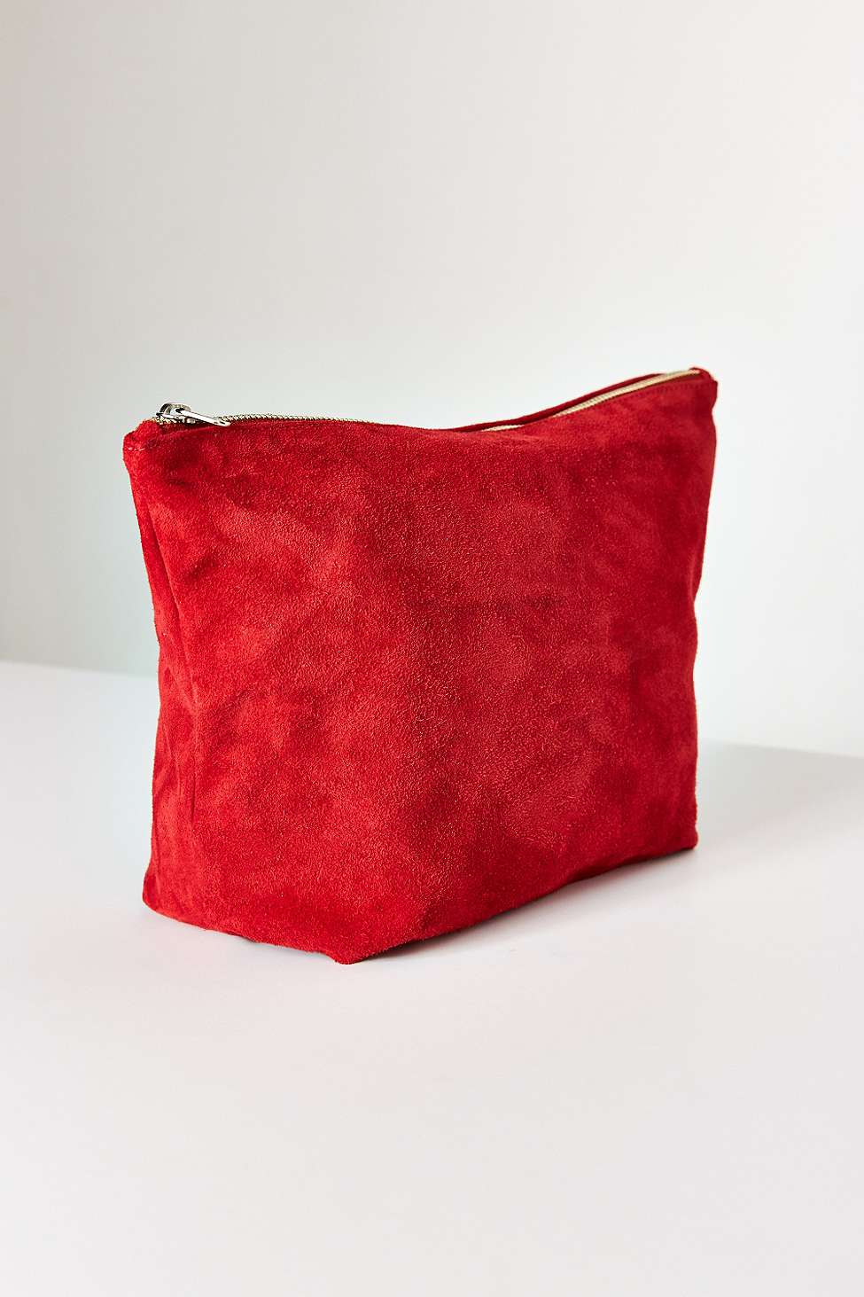 BAGGU Large Red Suede Clutch Bag | Urban Outfitters