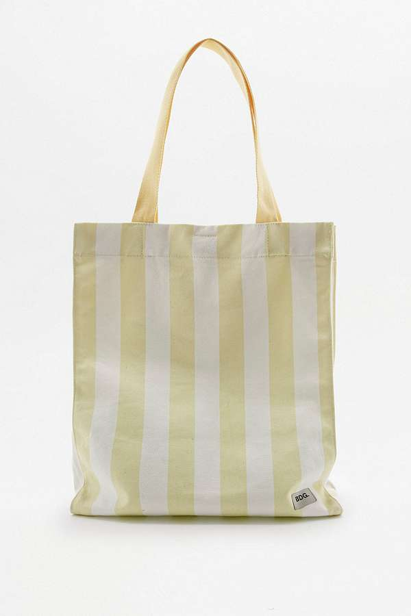 BDG Alison Yellow Striped Canvas Tote Bag | Urban Outfitters