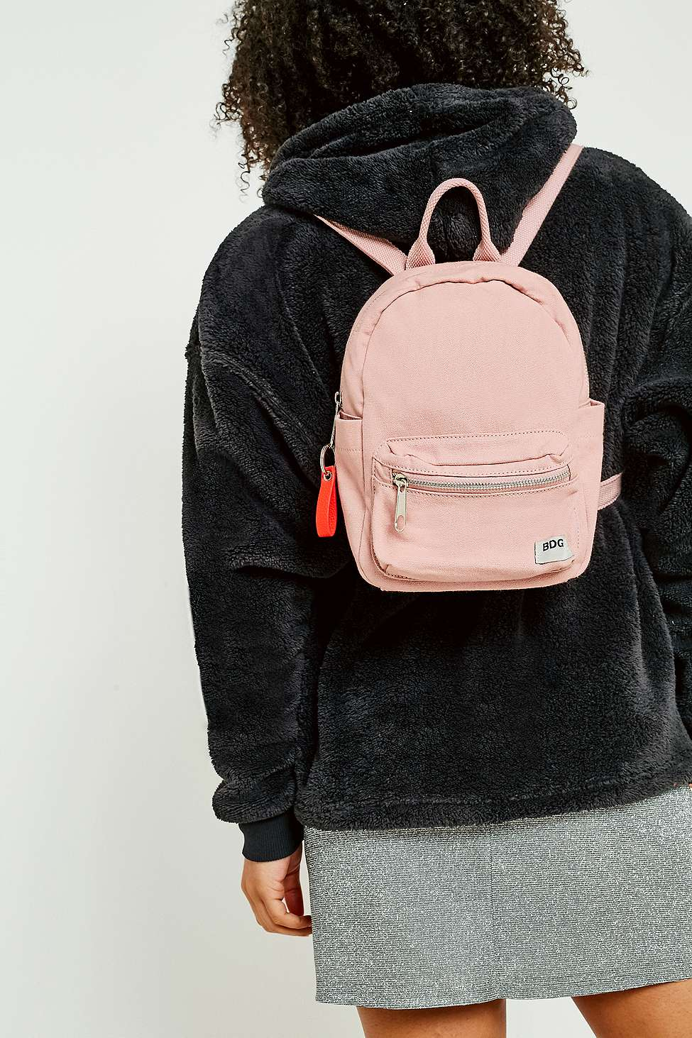 BDG Canvas Mini Backpack, Rose