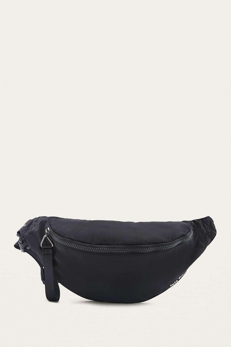 iets frans…  Black Nylon Bum Bag, Black