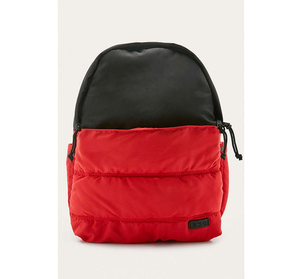 Slide View: 1: BDG Red and Black Quilted Puffer Backpack
