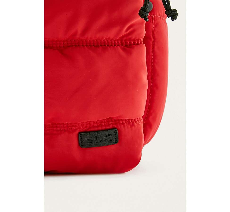 Slide View: 3: BDG Red and Black Quilted Puffer Backpack