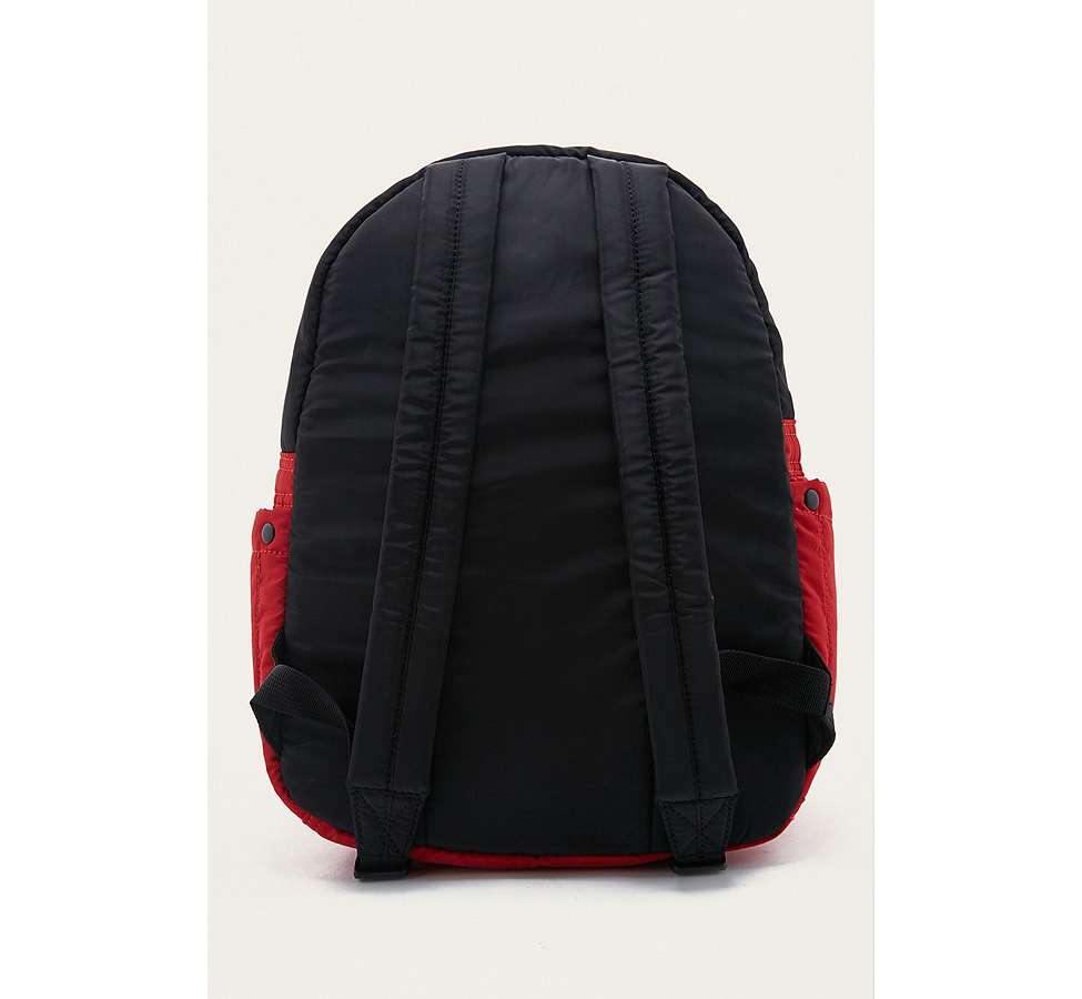 Slide View: 4: BDG Red and Black Quilted Puffer Backpack