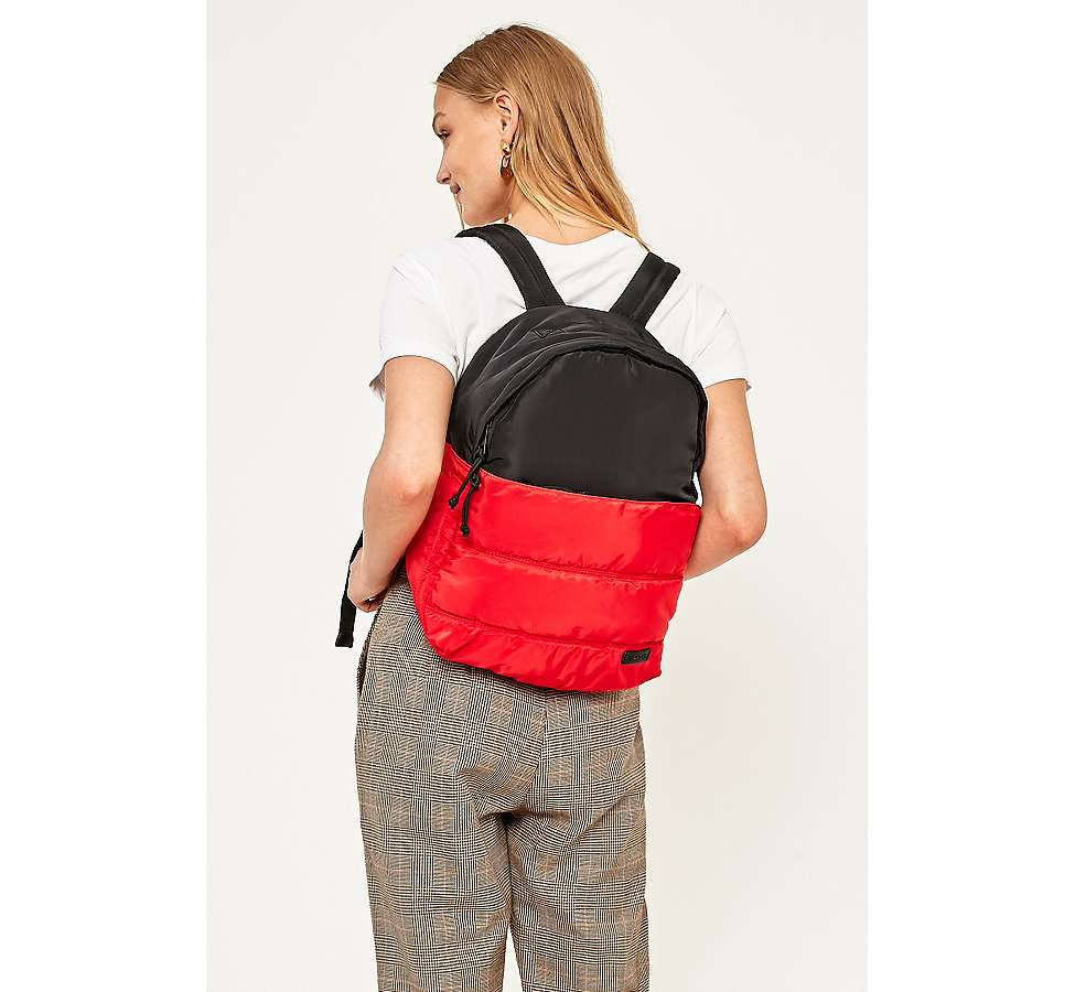 Slide View: 5: BDG Red and Black Quilted Puffer Backpack