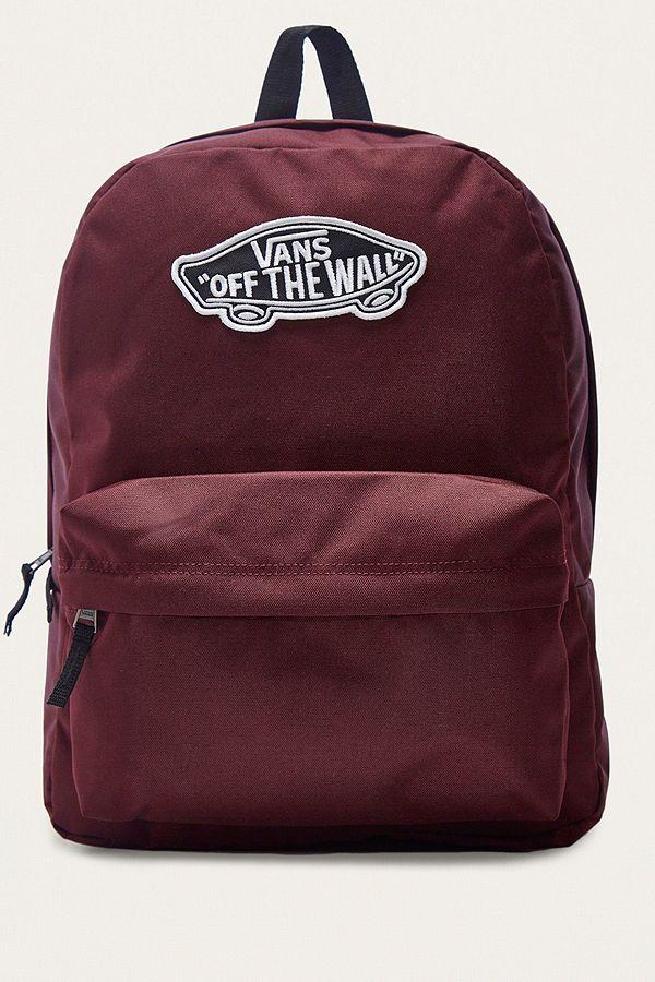 Vans Realm Burgundy Backpack   Urban Outfitters UK 6c9eedfc26