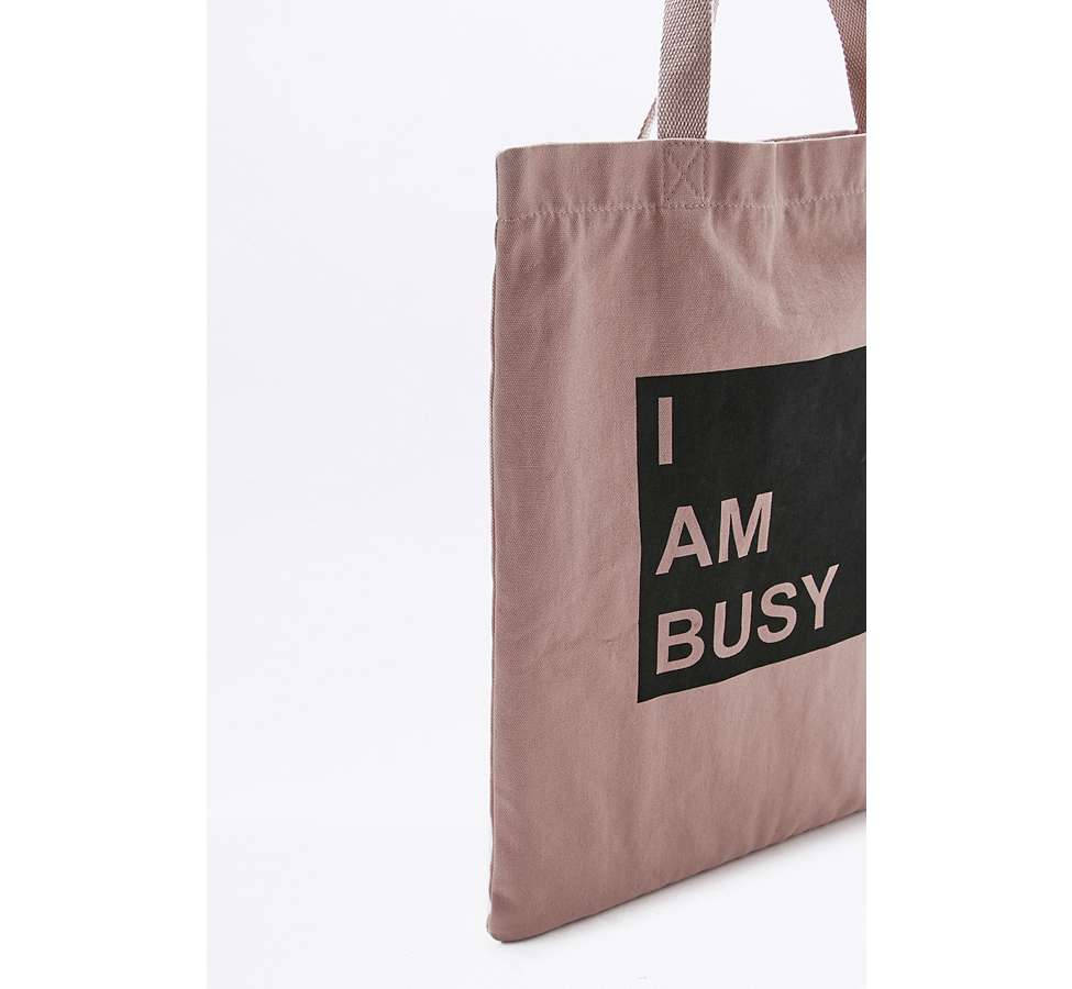 Slide View: 2: I Am Busy Canvas Tote