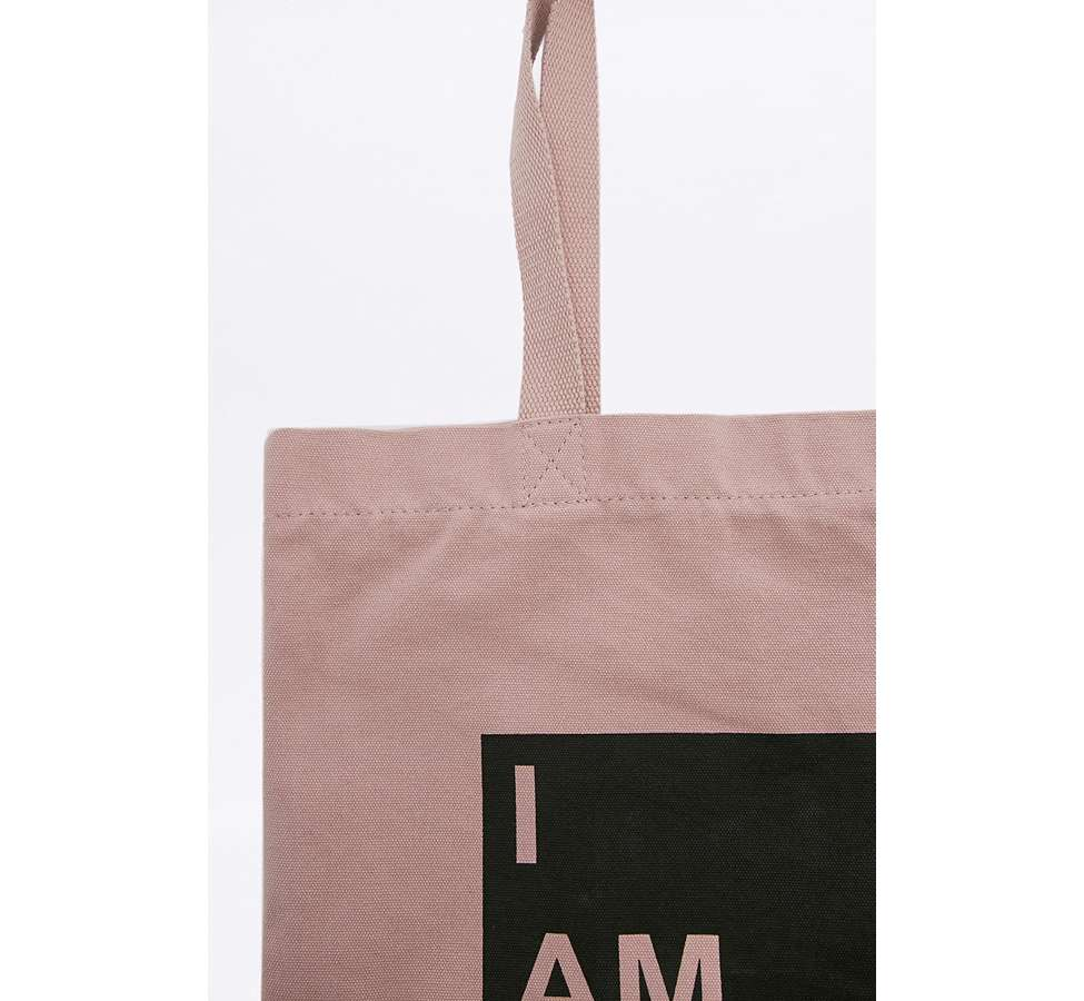 Slide View: 3: I Am Busy Canvas Tote