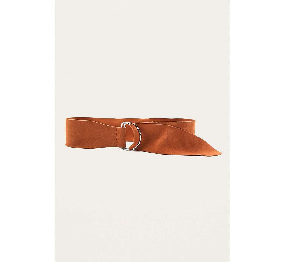 Slide View: 4: Suede D-Ring Belt