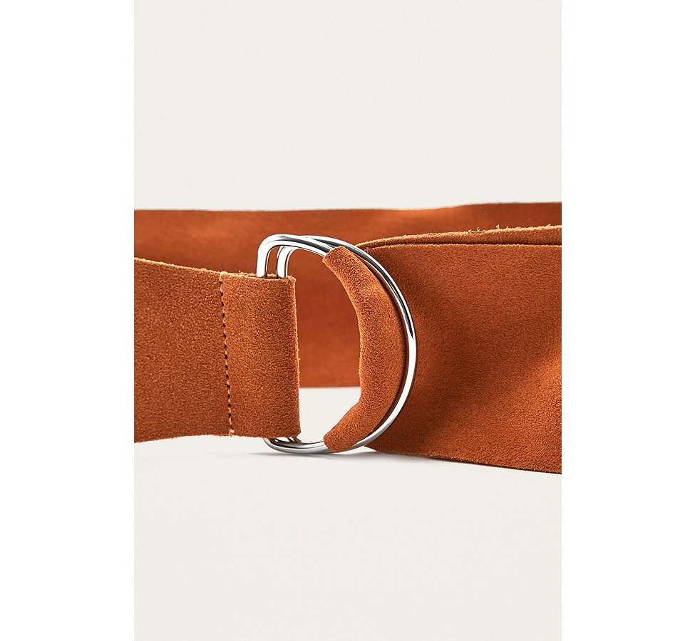 Slide View: 6: Suede D-Ring Belt