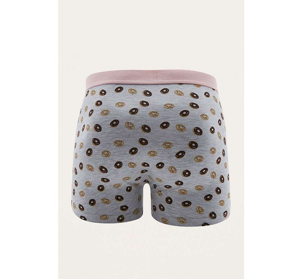 Slide View: 2: UO Grey Donut Boxer Trunks Pack